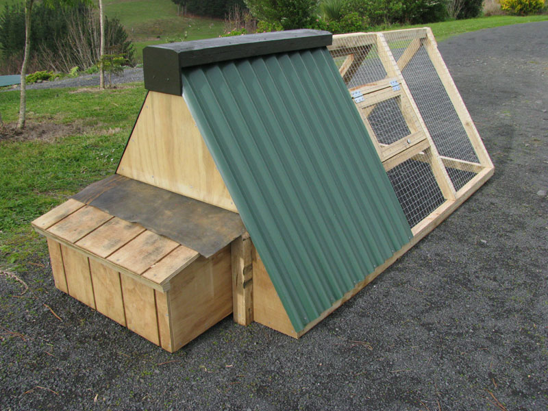Hobby chicken a frame chicken coop tractor plans for Hen house design plans